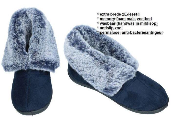 Padders ESME 4050/24 (2E) pantoffels blauw donker