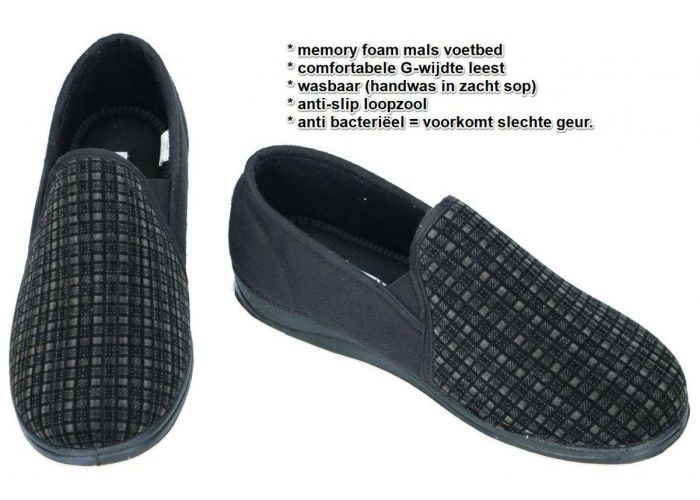 Padders ALBERT 408/38  pantoffels & slippers zwart