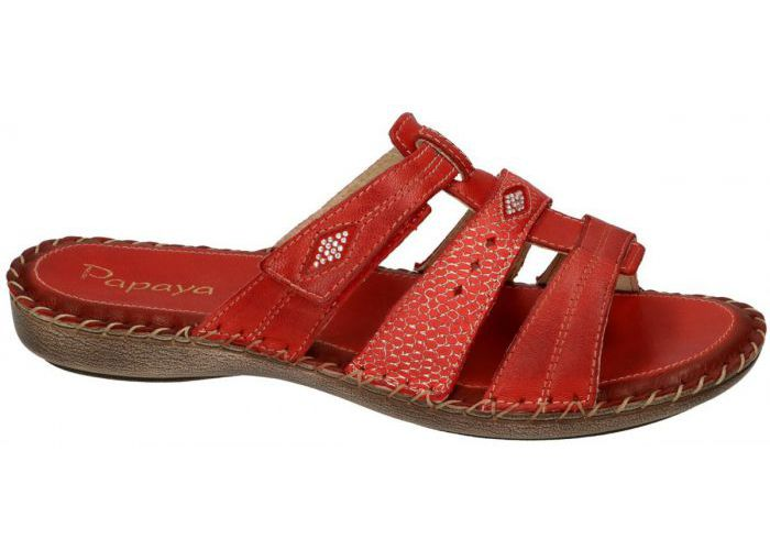 Papaya 6227 slipper - muiltje rood