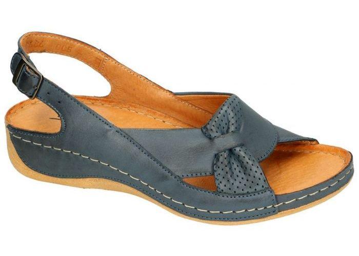 Damesschoenen Pollonus Comfort Shoes SANDALEN 5-0686-005 SANDAL DAMSKI Blauw Petrol