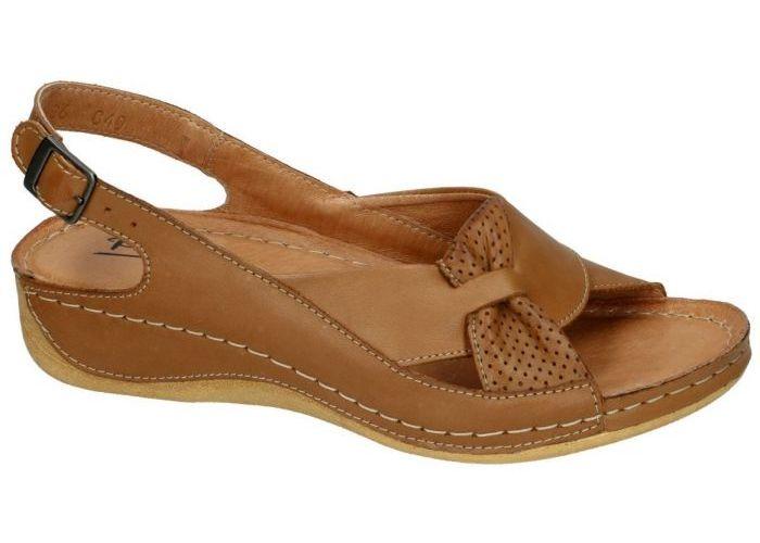 Damesschoenen Pollonus Comfort Shoes SANDALEN 5-0686-040 SANDAL DAMSKI Cognac/caramel