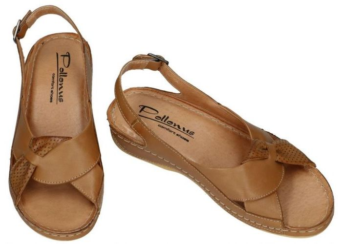 Pollonus Comfort Shoes 5-0686-040 SANDAL DAMSKI sandalen cognac/caramel