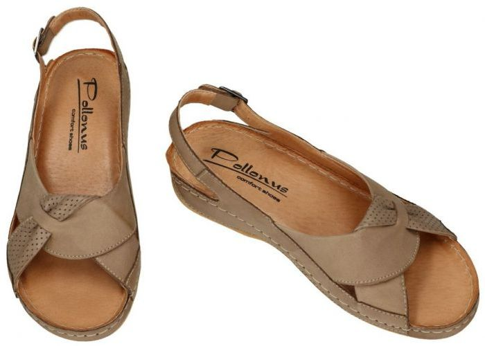 Pollonus Comfort Shoes 5-0686-039 SANDAL DAMSKI sandalen taupe