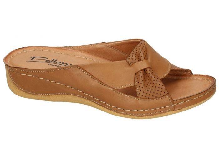 Damesschoenen Pollonus Comfort Shoes SLIPPERS & MUILTJES 5-0687-27 KLAPEK DAMSKY Cognac/caramel