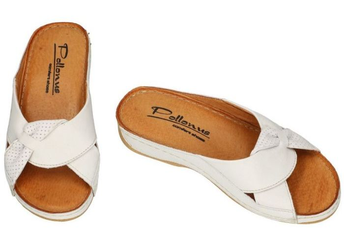 Pollonus Comfort Shoes 5-0687-003 KLAPEK DAMSKI slippers & muiltjes off-white/ecru/parel