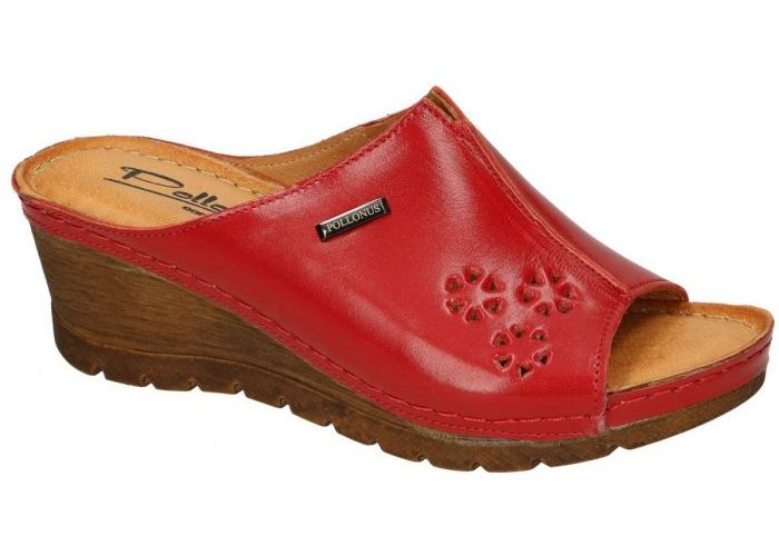 Pollonus Comfort Shoes 5-0976-031 KLAPEK DAMSKI slippers & muiltjes rood