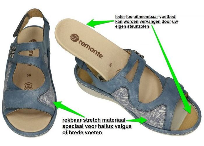 Remonte D7647-15  sandalen blauw