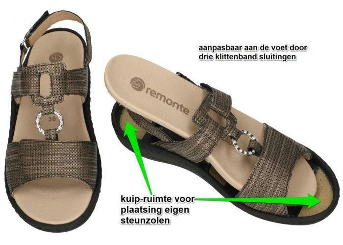 Remonte D7648-92  sandalen brons