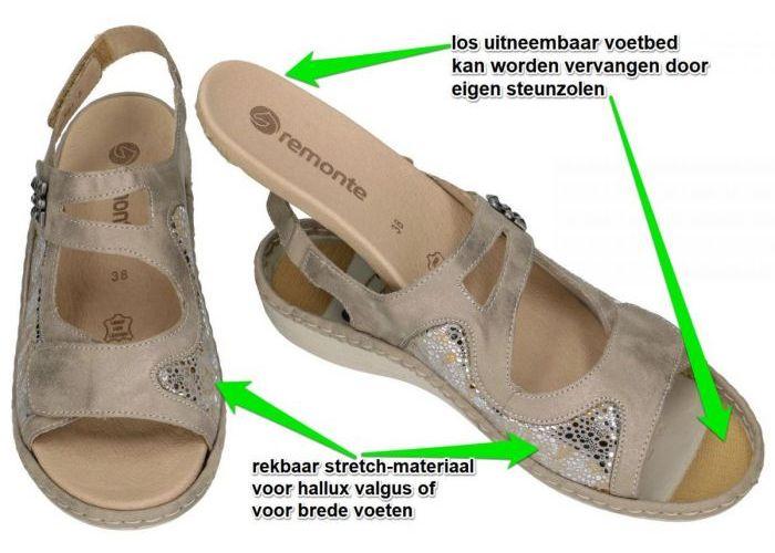 Remonte D7647-92 sandalen goud