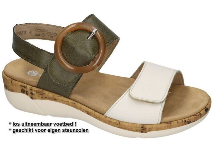 Damesschoenen Remonte SANDALEN R6853-54 Groen Olijf