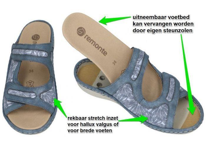 Remonte D7639-15 slippers & muiltjes blauw