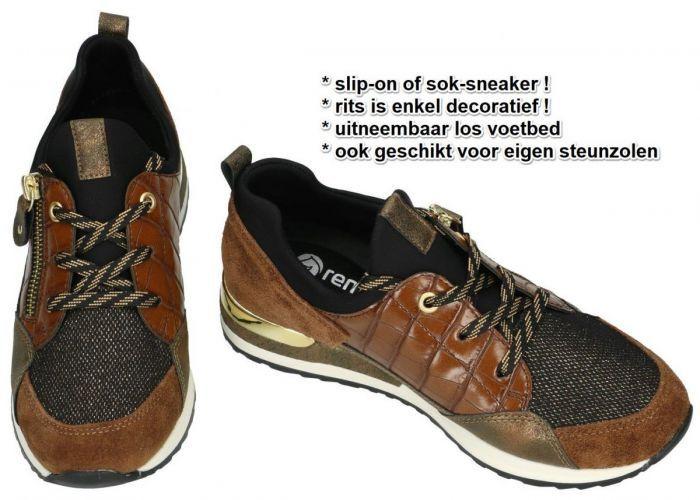 Remonte R2529-25 sneakers  cognac/caramel