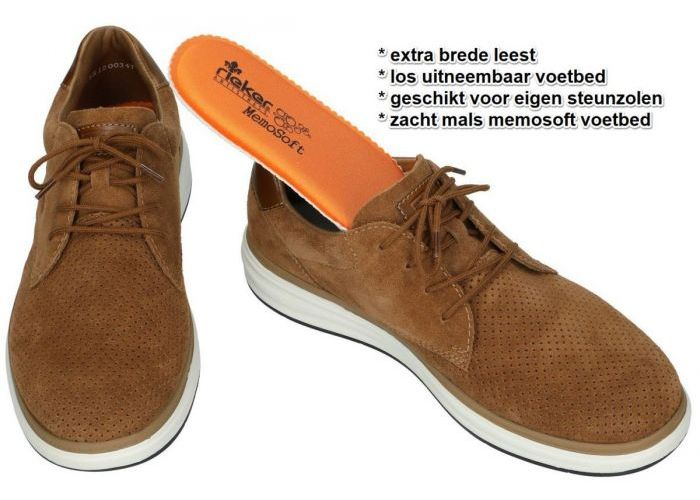 Rieker B6316-20 casual schoenen bruin
