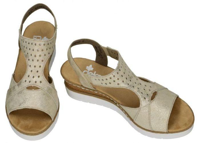 Rieker V3807-62 sandalen goud