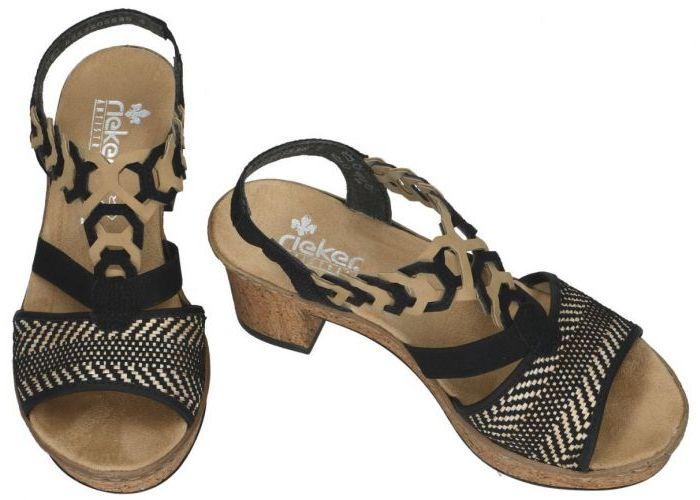 Rieker 638C7-00 sandalen zwart