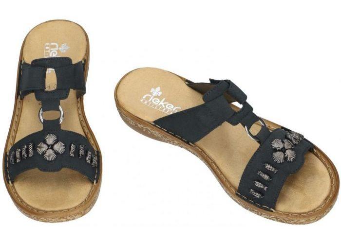 Rieker 62891-14 slippers & muiltjes blauw donker