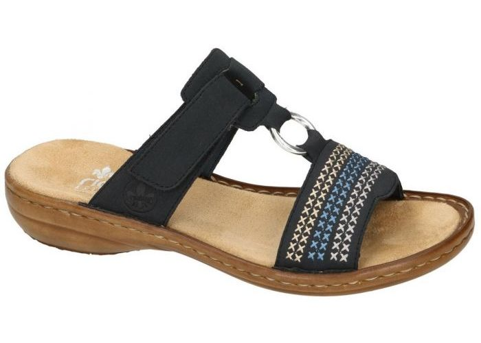 Rieker 608K8-14 slippers & muiltjes blauw donker