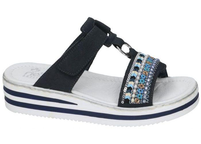 Rieker V02M6-14 slippers & muiltjes blauw donker