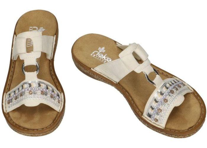 Rieker 628M6-80 slippers & muiltjes wit