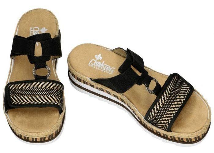 Rieker V7947-00 slippers & muiltjes zwart