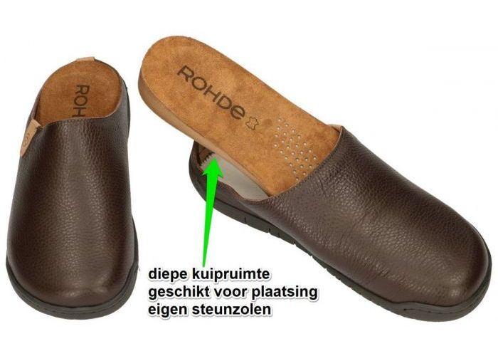 Rohde 6656 MANTUA pantoffels & slippers bruin