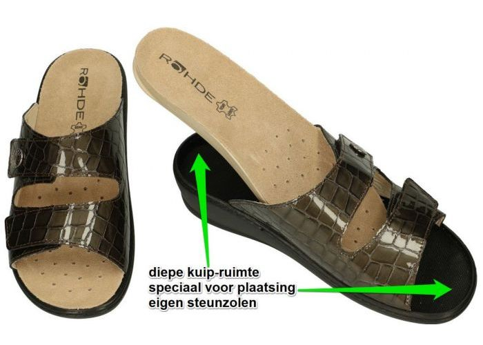 Rohde 5763-38 HERNE slippers & muiltjes brons