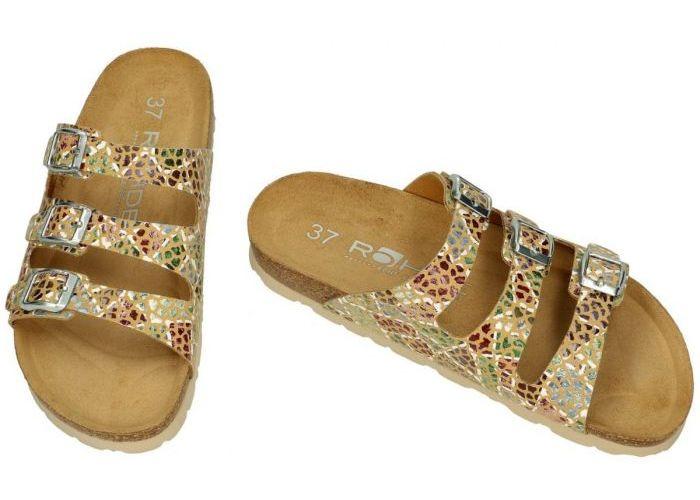 Rohde 5620-75 ALBA slippers & muiltjes camel