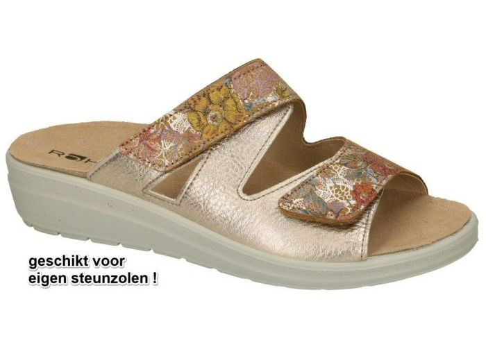 Damesschoenen Rohde SLIPPERS & MUILTJES 5735-29 RIVELLA Goud