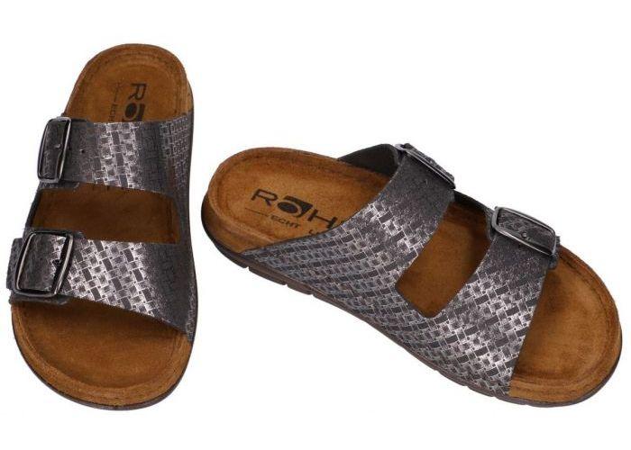Rohde 5862-90 RODIGO-D slippers & muiltjes grijs  donker