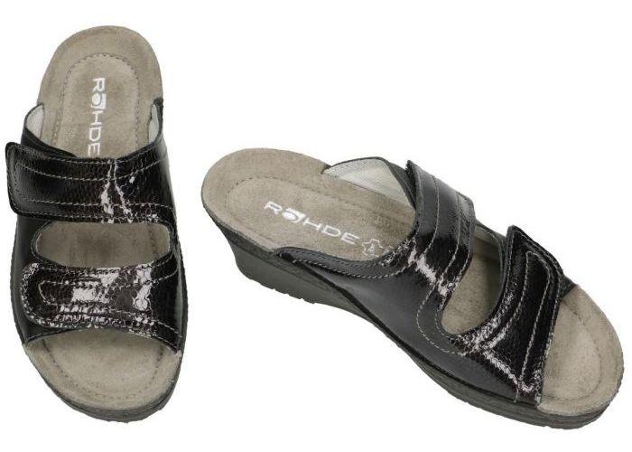 Rohde 1469 Neustadt-50 slippers & muiltjes zwart