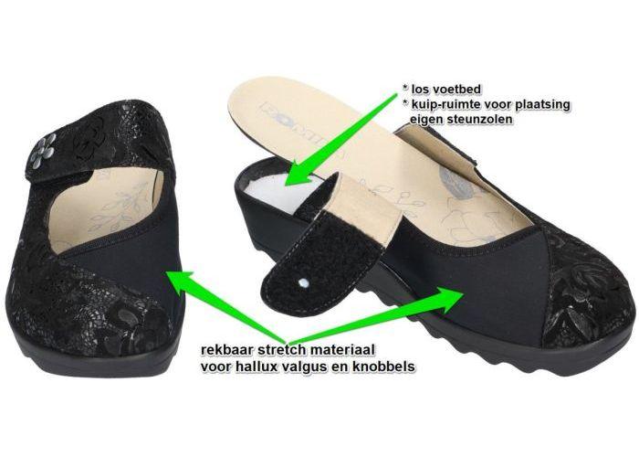 Romika 56512 GINA HOME pantoffels zwart