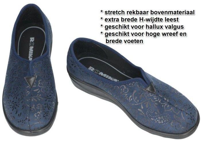 Romika 70077 ROMISANA 77 pantoffels blauw donker