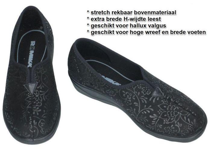 Romika 70077 ROMISANA 77 pantoffels zwart