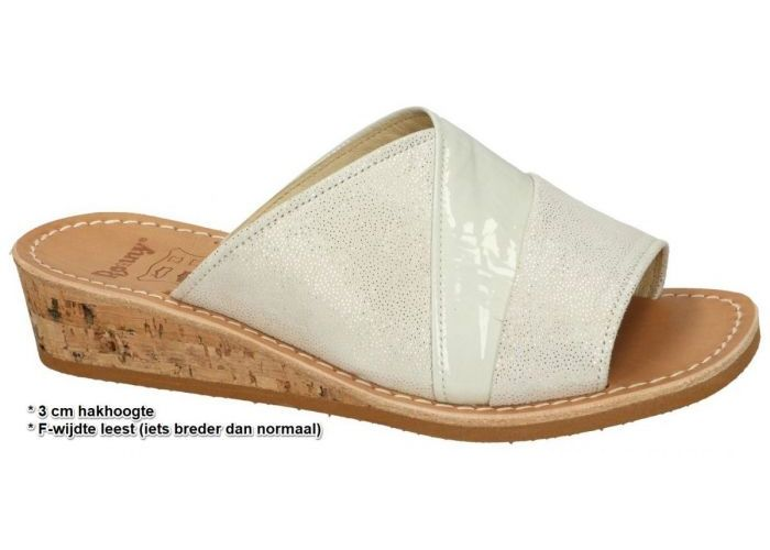 Damesschoenen Ronny SLIPPERS & MUILTJES 9053 - F Off-white/ecru/parel