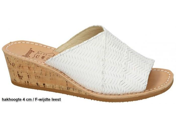 Ronny 9054 F slippers & muiltjes wit
