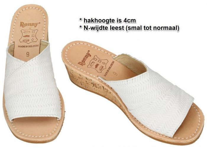 Ronny 10823 slipper - muiltje wit