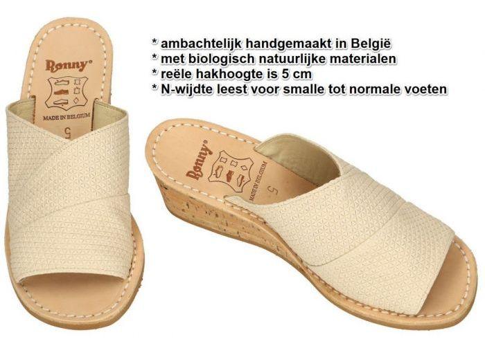 Ronny 9055  5cm  N slippers & muiltjes crÈme