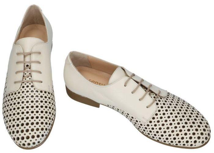 Sensunique T-3133-V1 BARI lage gesloten schoenen off-white/ecru/parel