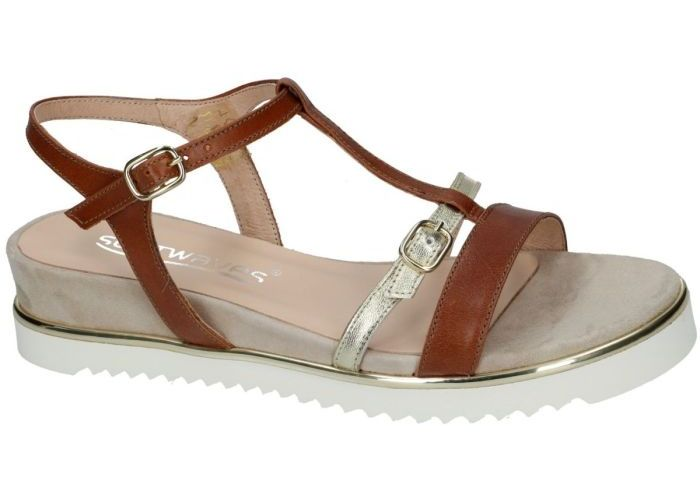 Damesschoenen Softwaves SANDALEN 7.42.10 Cognac/caramel