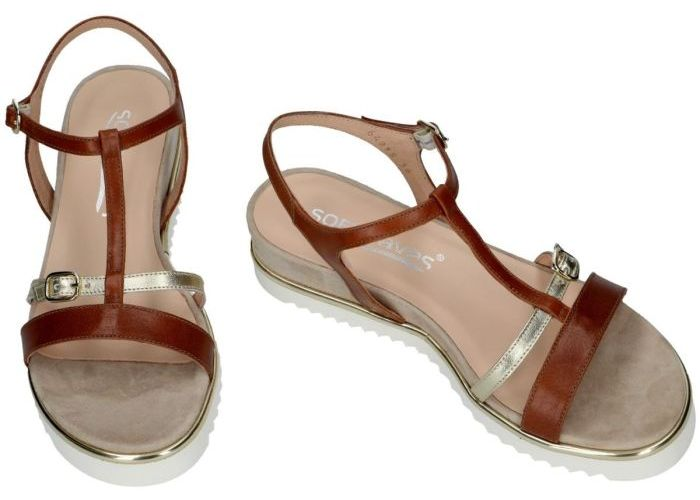 Softwaves 9252 sandalen cognac/caramel