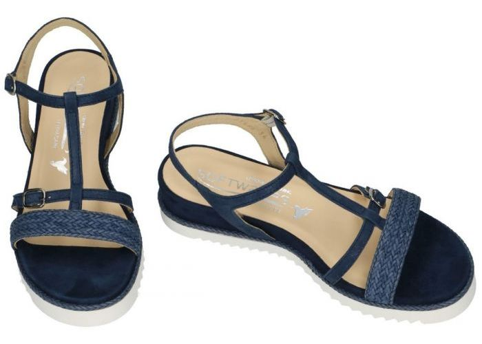 Softwaves 7.42.45 sandalen blauw donker