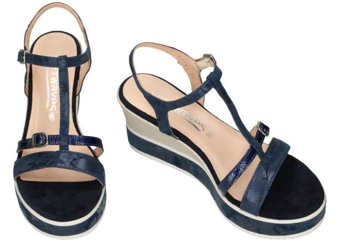 Softwaves 7.43.13 sandalen blauw donker