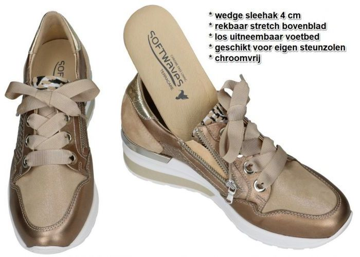 Softwaves 7.70.27ST / 02 sneakers  brons