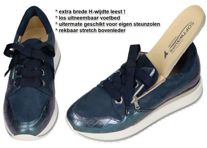 Softwaves 11345 sneaker-sportief blauw donker