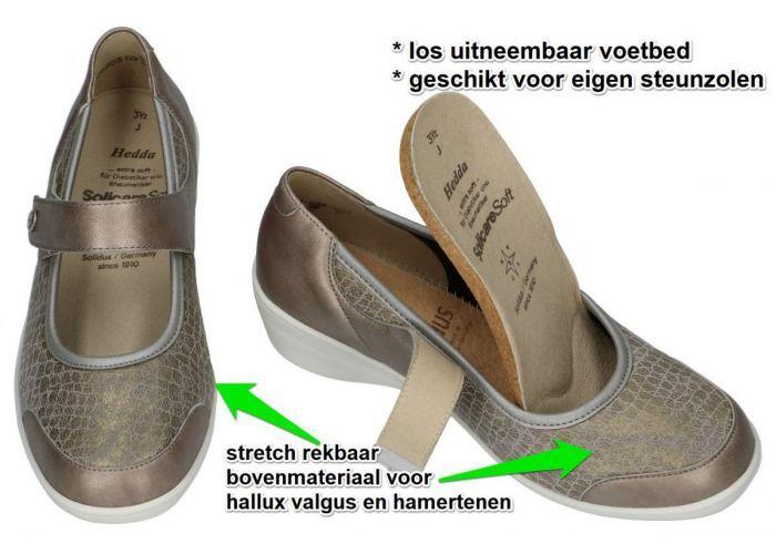 Solidus 26551-40169 HEDDA (J) ballerina's & mocassins brons