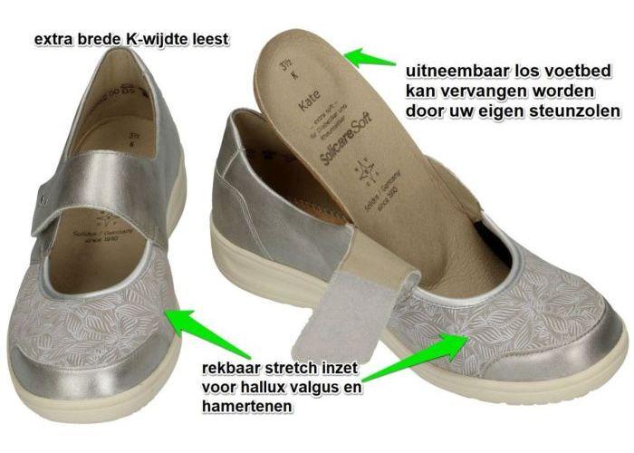 Solidus 29503-80196 KATE ballerina's & mocassins zilver