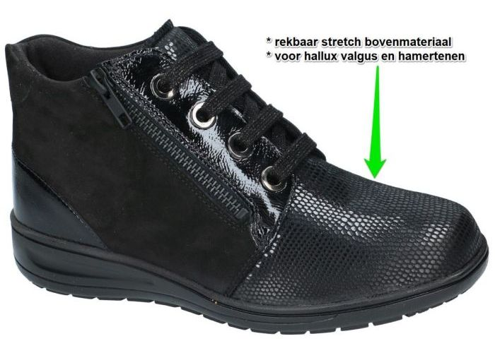 Damesschoenen Solidus BOTTINES 29512-00791 KATE Zwart