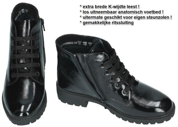 Solidus 10200 bottines zwart