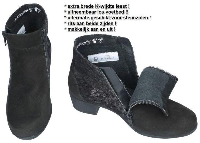 Solidus 35011-00595 KERRY enkellaarzen zwart