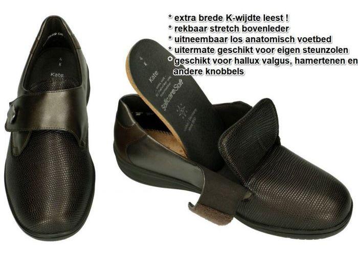 Solidus 29506-30467 KATE lage gesloten schoenen bruin donker